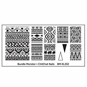 Maniology (formerly bundle monster) 5pc Blogger Collaboration Nail Art Polish Stamping Plates - Set 1 (Color: Blogger Collaboration - Set 1, Tamaño: X-Large)