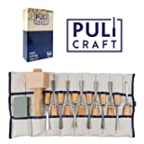 Puli Craft Wood Carving Tools Set - Heavy Duty Woodworking Kit with Carry Case - Precision Cutting & Shaping for Personal & Professional Use