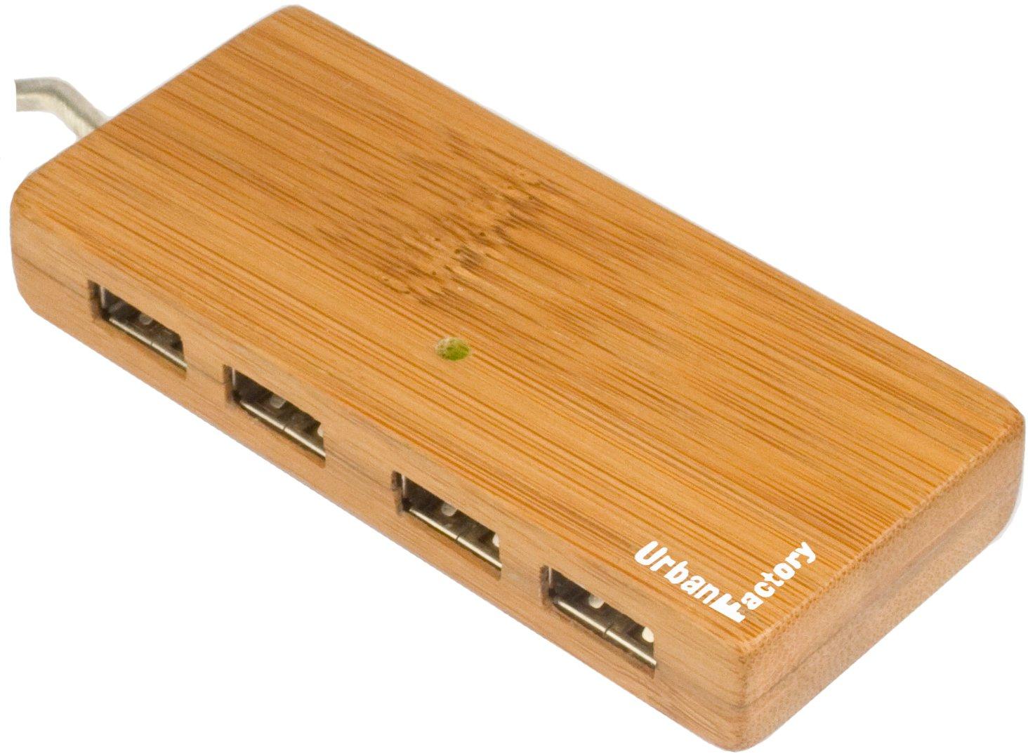 Hub USB Firewire URBAN FACTORY MINI-HUB HBB01UF MARRON 4PORTS