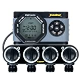 Melnor 53280 4-Outlet Digital Water Timer Simple and Flexible Programming, 4 Zone (Color: gray, Tamaño: 4 zone)