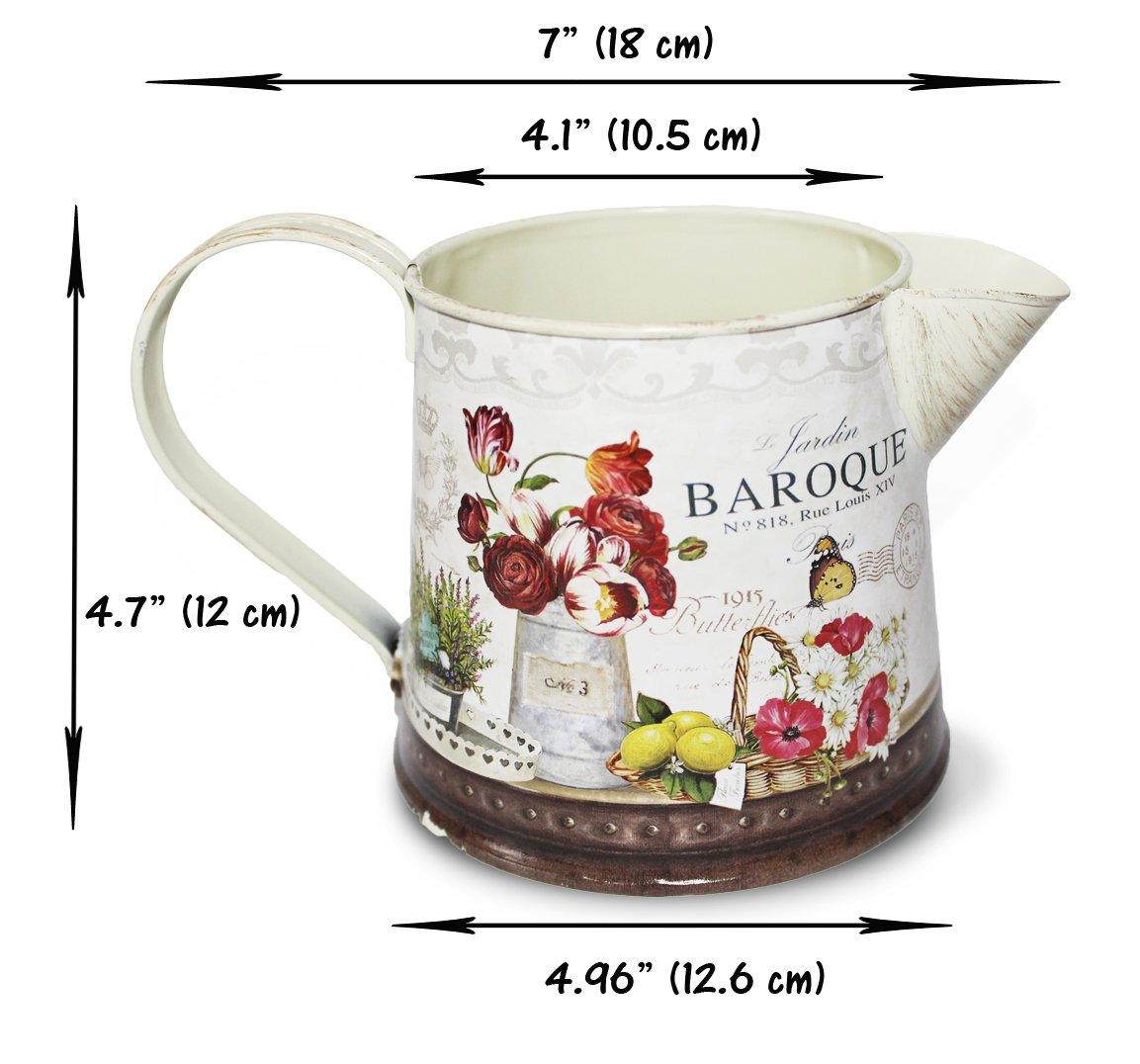 Janazala Small Flower Pots Indoor Decorative, Indoor Flower Pots, Set of 3 (Metal, Colorful) 6
