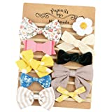 Baby Girl Headbands with Bows, Assorted 10 Packs of Hair Accessories for Newborn Toddler Girls (Color: Bows_10pack, Tamaño: One Size)