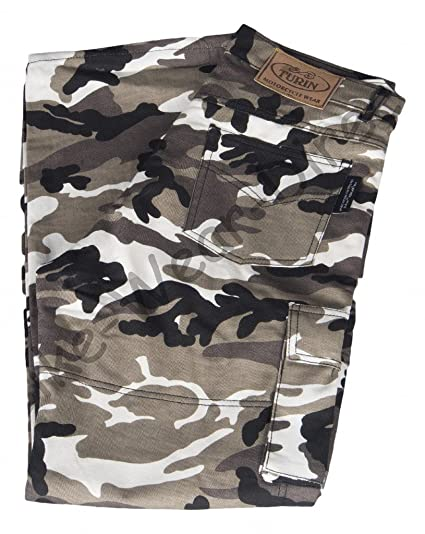 Pantalons Hommes 6 poche Kevlar Camouflage moto