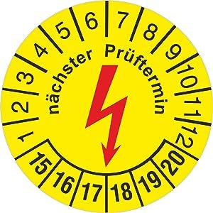 Prüfplakette 30 mm rund selbstklebend nächster eCheck Elektrocheck / Elektro Prüfung 20142019 1000 Stück  Kundenbewertung und Beschreibung