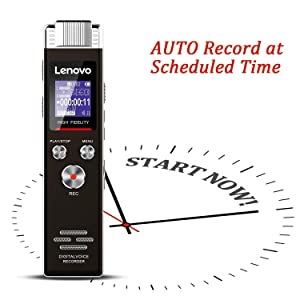 Lenovo Digital Voice Recorder-Mini Voice Activated Recorder with MP3 Player,Dictaphone Voice Recorder for Lectures,Memos,Meetings,Interviews and More (Tamaño: 16G)