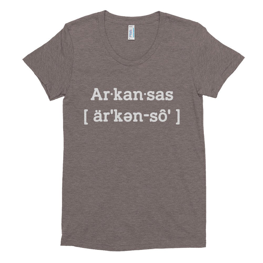 Brown Arkansas Womens T Shirt