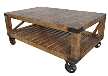 Moti Furniture Factory Inspired Napa Coffee Table with Wheels