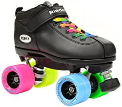 how to size womens roller skates - size roller skates should buy - Womens Roller Skates Size 11 – Riedell Dart Double Rainbow Quad Roller Derby Speed Skate