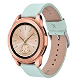 V-MORO for Galaxy Watch (42mm) Leather Band/Gear Sport Bands, Men Women 20mm Soft Leather Replacement Bracelet Strap for Samsung Galaxy Watch SM-R810/R815 & Gear Sport SM-R600 Smartwatch Mint Green (Color: mint green)