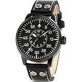 Laco Bielefeld Type B Dial Miyota Automatic Watch, Black Ion Case 861760 (Color: Black)