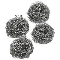 Kitchen Dish Pot Cleaning Steel Wire Spiral Scourer Ball 4 Pcs