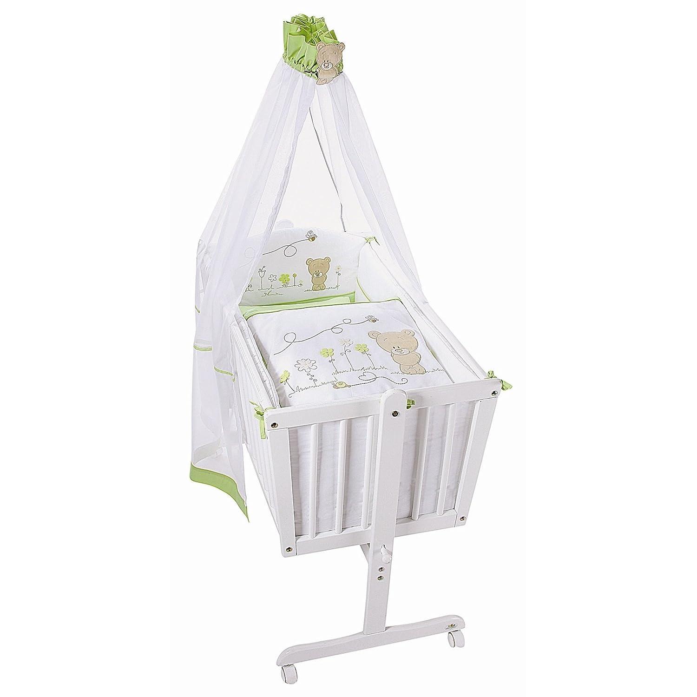 Easy Baby Wiege Komplettset antik, Honey bear grün 183-39