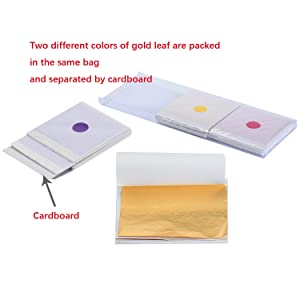 Gold /& Metal Leaf Sheets Set 300 Sheets Imitation Hold Leafing Foil 6 Colors