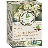 Traditional Medicinals Organic Linden Flower with Hawthorn & Lemon Balm Herbal Leaf Tea, 16 Tea Bags (Pack of 1) (Tamaño: Pack of 1)