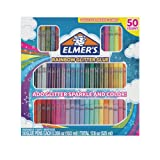 Elmer's Rainbow Glitter Glue Pen Set, Assorted Colors, 0.356 Ounces Each, 50 Count - Great For Making Slime (Color: Rainbow Glitter, Tamaño: 50 Count)