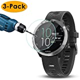 KIMILAR Compatible Garmin Forerunner 645 Screen Protector, Full Coverage Tempered Glass Screen Protector for Garmin Forerunner 645 Smartwatch, [9H Hardness] [Crystal Clear] [Scratch Resist],3-Packs (Color: Forerunner 645)