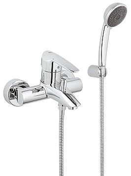 Nettoyage /à l/'eau douchette avec eau chaude pour toilette intime Fonctionne sans /électricit/é Kit douchette confort BisBro Deluxe /à fixer sur les WC BisBro Deluxe Slim Bidet 2082