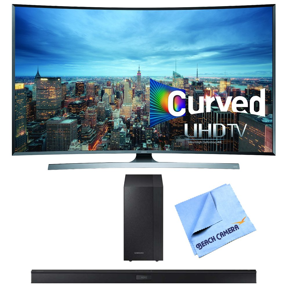 UN55JU7500 - 55-Inch 2160p 3D Curved 4K UHD Smart TV HW-J450 Soundbar Bundle includes UN55JU7500 55-Inch Curved UHD TV and HW-J450 300 Watt Soundbar with Wireless Subwoofer