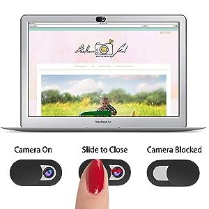 iPhone MacBook Pro Mac Security Privacy Sliding Covers 6 Pack Allinko T1 Laptop Camera Cover Ultra Slim 0.026 inch Premium Slide Webcam Cover Blocker for Computer Surface Smartphones iMac