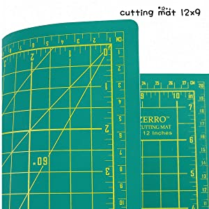 ZERRO Self Healing Cutting Double Sided 5-Ply Rotary Mat 9 x 12(A4) (Color: Lea39, Tamaño: A4:12x9 inches)