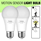 Tebio 12W Radar and Motion Smart LED Light Bulbs, Auto On/Off Radar Sensor LED Light Bulb, Dusk to Dawn Security Sensor Bulbs E26 Base, 1200lm, 6000K Daylight White, Indoor Outdoor (Color: 6000K-12w)