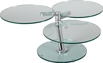 Tavolino rotondo articolata 3ripiani vetro
