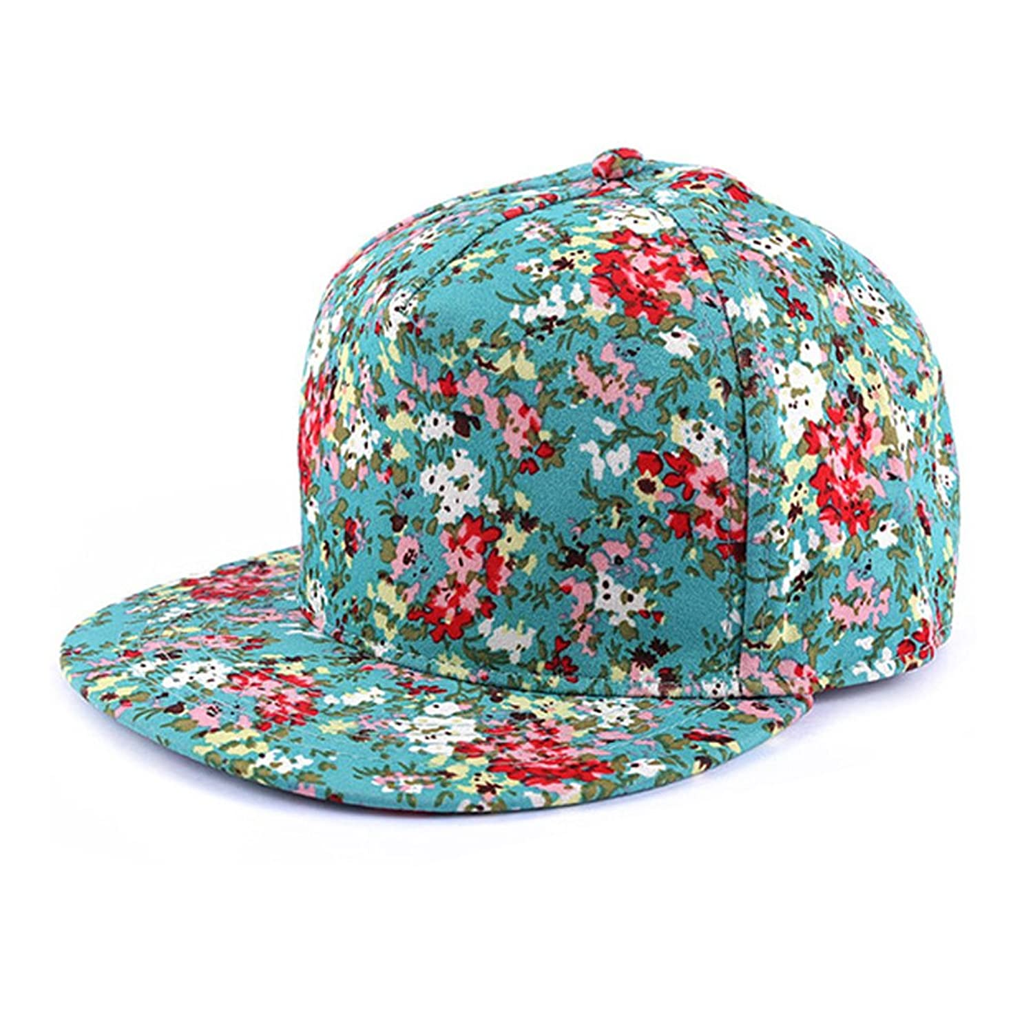 ZLYC Women Fashion Floral Print Adjustable Casual Snapback Baseball Cap Hat xthree new fashion high quality faux leather cap fall winter hat casual snapback baseball cap for men women hat wholesale