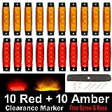 (Pack of 20) LEDVillage 10 pcs Amber + 10 pcs Red 3.8