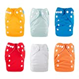 ALVABABY Newborn Cloth Diapers Pocket for Less Than 12pounds Cloth Diaper Nappy 6pcs + 12 Inserts 6SVB03 (Color: pack03, Tamaño: All in one)