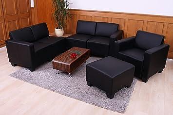4 syst me de canap modulaire lyon lyon ensemble simili cuir noir cuisine maison m63. Black Bedroom Furniture Sets. Home Design Ideas