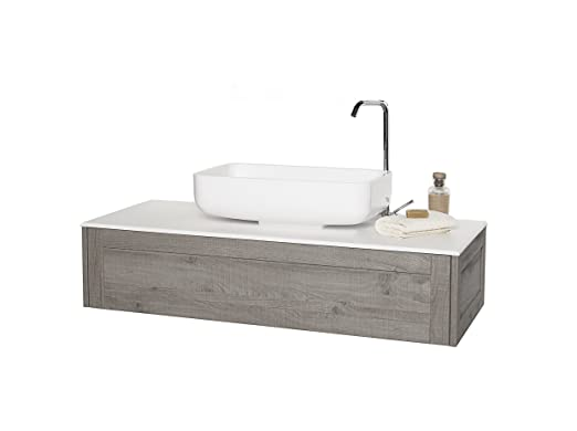 B&C Console da bagno con top Stonelight - linea Urban Chic - Made in Italy
