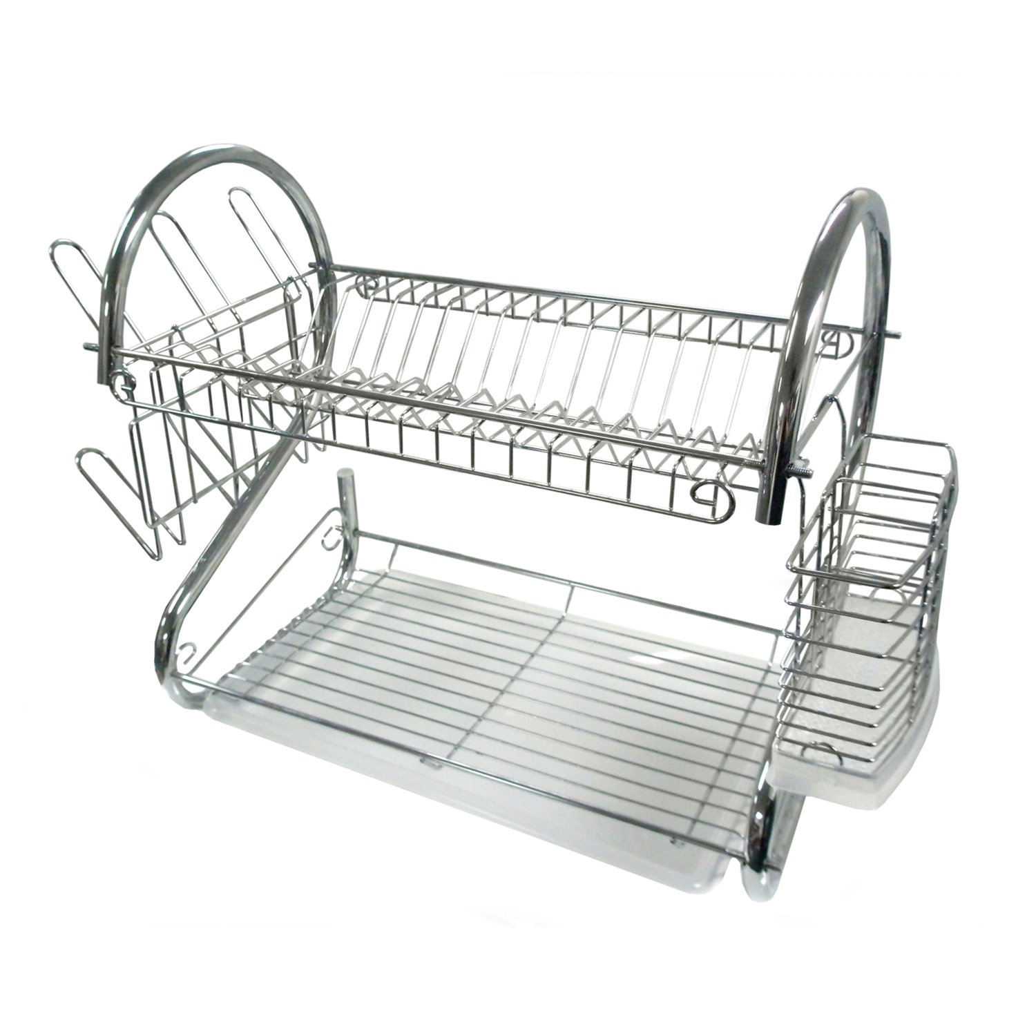 better chef dr 16 2 tier dish rack 16 inch chrome ebay. Black Bedroom Furniture Sets. Home Design Ideas