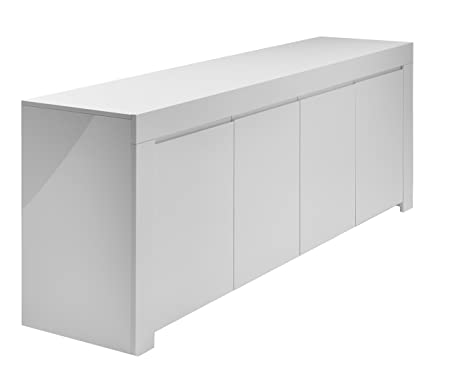 Sideboard Amalfi 4-turig, 210 x 84 x 50 cm, weiß hochglanz
