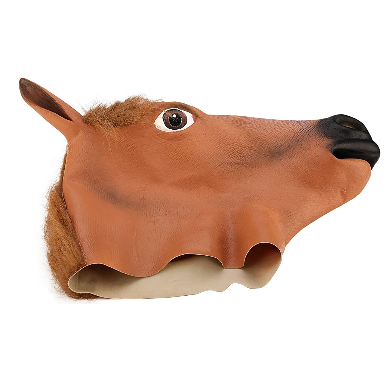 Ylovetoys Latex Horse Head Mask Halloween Costume Animal Masks 4