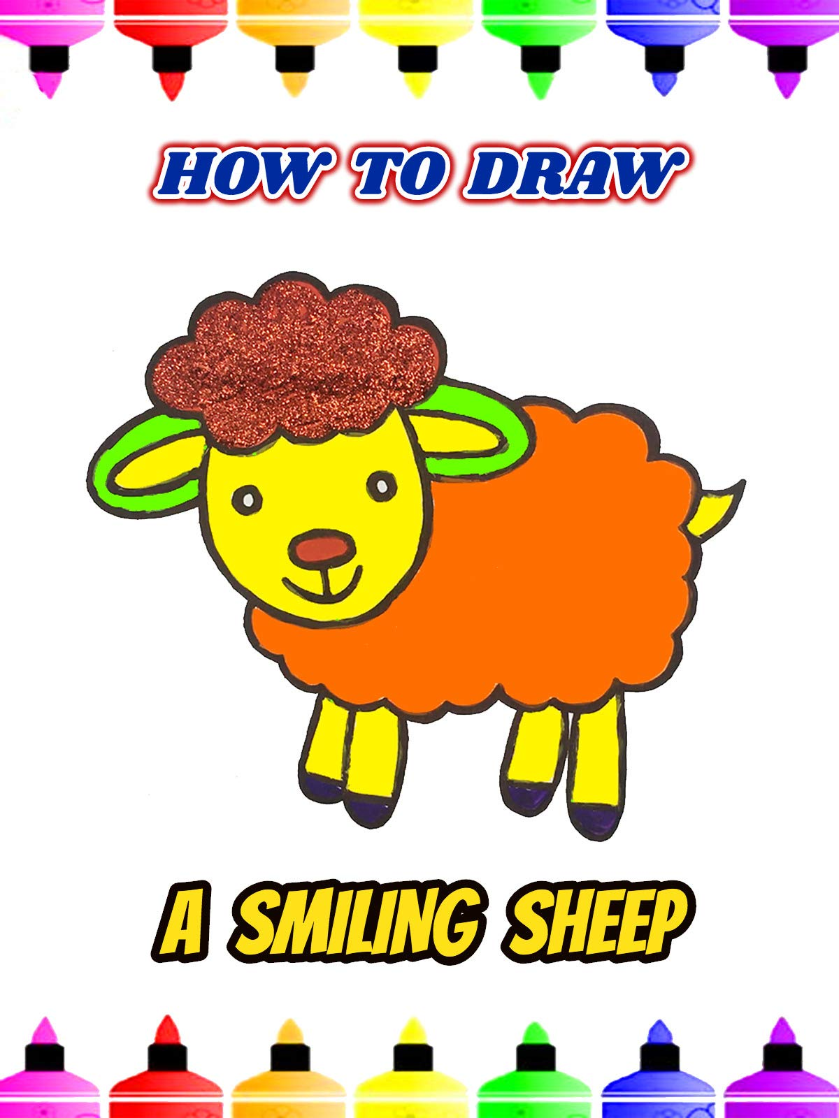 How To Draw A Smiling Sheep