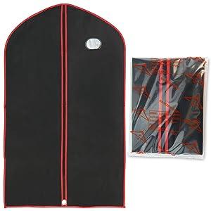 Hangerworld-Juego de 3 fundas para trajes, chaquetas, camisas etc en vinilo negro y rojo. 100cm   Revisión del cliente