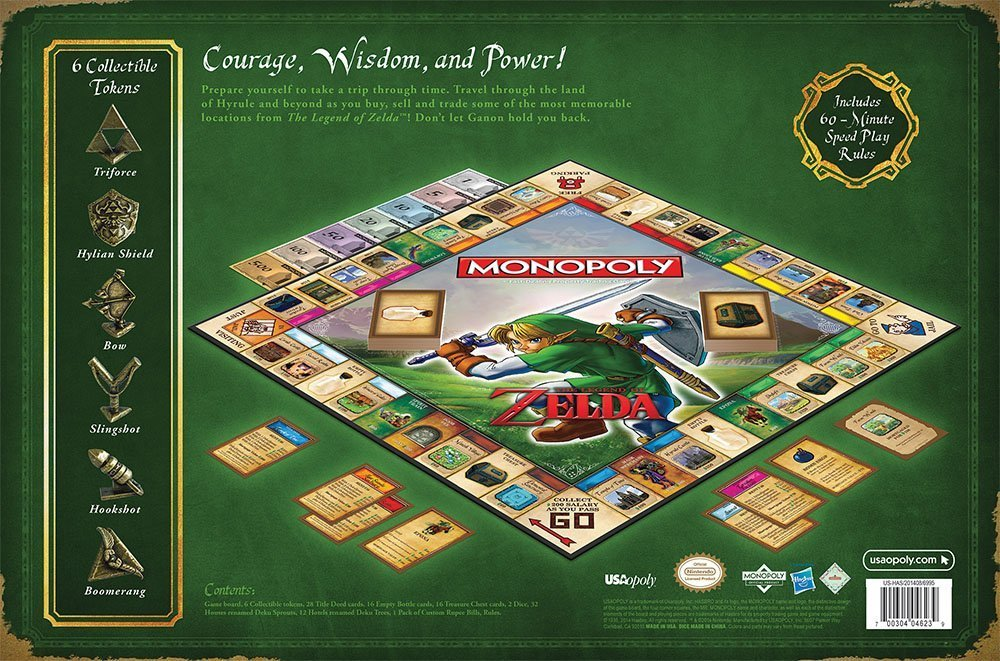 Amazon.com: MONOPOLY: The Legend of Zelda Collector's Edition ...