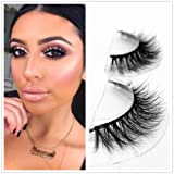 Mink 3D Lashes Dramatic Makeup Strip Eyelashes 100% Siberian Fur Fake Eyelashes Hand-made False Eyelashes 1 Pair Package Miss Kiss (3D04) (Tamaño: 3D-04)