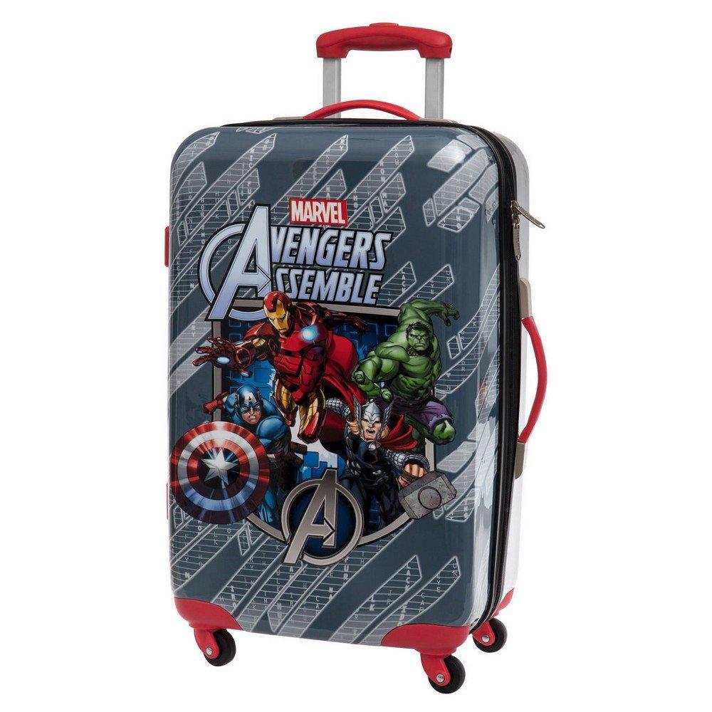 Marvel Avengers ABS Koffer Kindergepäck, 53 Liter, Mehrfarbig