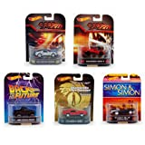Set of 5 : Hot Wheels Retro Entertainment Series 1:64 Scale Collectible Cars - Assorted (Tamaño: 1:64 Scale ~ 3