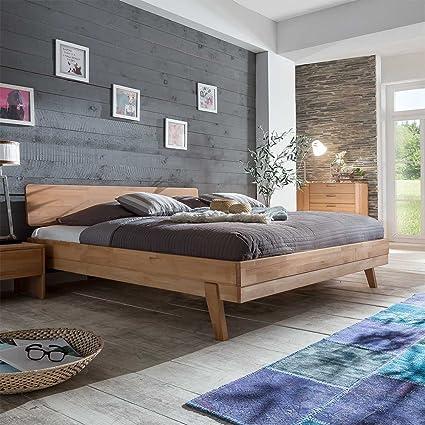 Bett aus Kernbuche massiv 180x200 Breite 168 cm Liegefläche 160x200 Pharao24