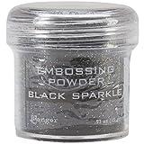 Ranger Embossing Powder, 1-Ounce Jar, Black Sparkle (Color: Black Sparkle)