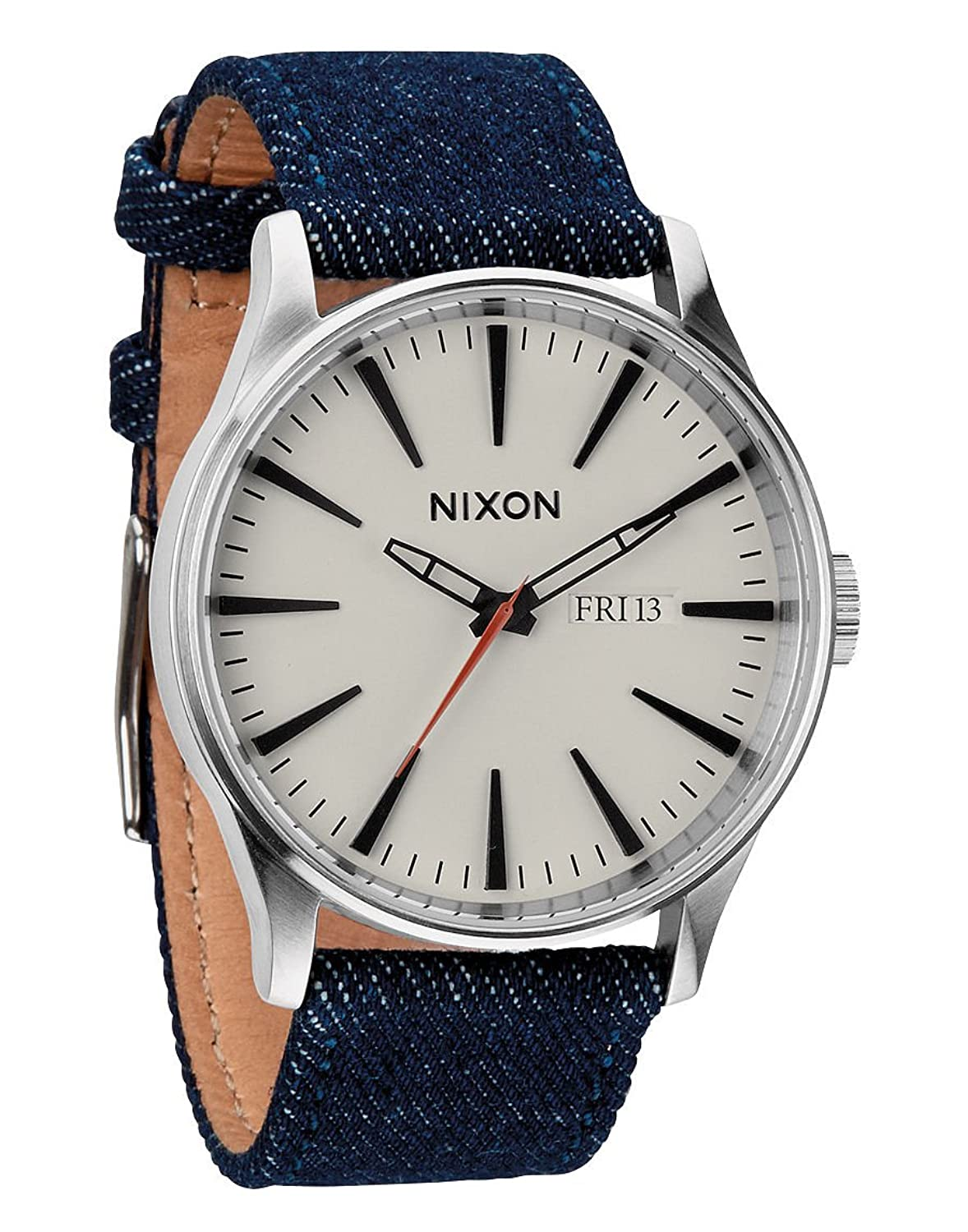 Фото Nixon - Sentry Leather - Dark Denim / Cream часы nixon porter nylon gold white red
