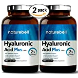Maximum Strength Hyaluronic Acid Plus, 100mg,180 Capsules, Powerfully Supports Skin Hydration & Joints Lubrication. Non-GMO and Gluten Free. Made in USA. (2 Pack)