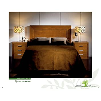 Headboard + 2 Bedside Tables in Wood Cherry Colour r-kyn