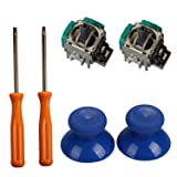Timorn 2pcs Replacement Thumbsticks Joysticks Swap and 2pcs Wireless Controller Rocker with T8 T10 Torx Screwdriver Repair Kits Parts for Xbox One Controller (Color: mg36+GPP09B+GPP3132)