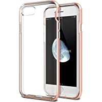 Lumion Crystal Clear Slim Fit Transparent Bumper Cover for iPhone 8 (Rose Pink)