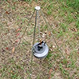 Outdoor Cooking Camping Picnic Campfire Aluminum Tripod Bonfire Party Tripod Portable Hanging Pot Stand Holder