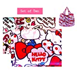Kerr's Choice Lightweight Portable Grocery Bag Large Capacity Shopping Bag Durable Reusable Tote Bag Travel Accessories - Hello Kitty (Color: Multicolor, Tamaño: Hello Kitty)
