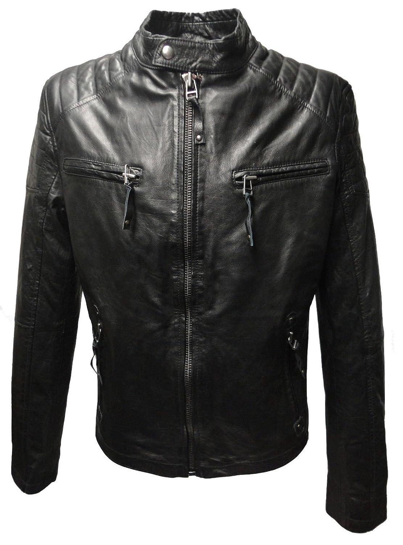 COP von RICANO, Herren Echt Nappa Biker Lederjacke (schwarz) kaufen